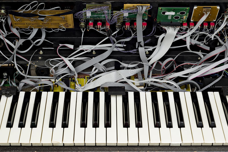 Advanced synthesizer opened royalty free stock images