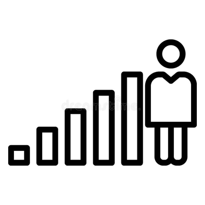 Advancement Isolated Vector Icon which can easily modify stock illustration