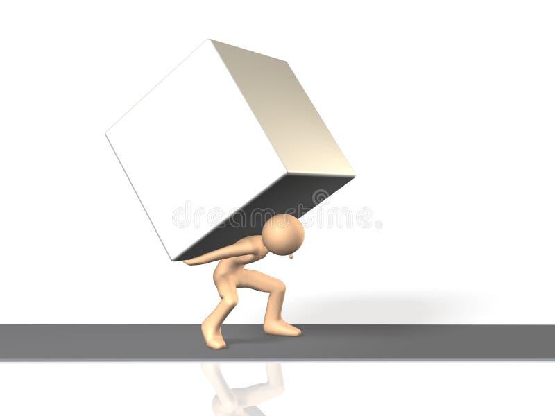 He advances, enduring pressure. vector illustration