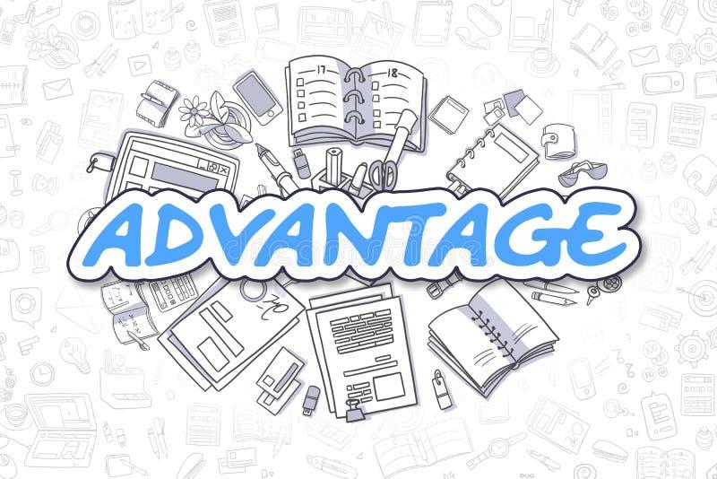 Advantage - Cartoon Blue Text. Business Concept. royalty free illustration