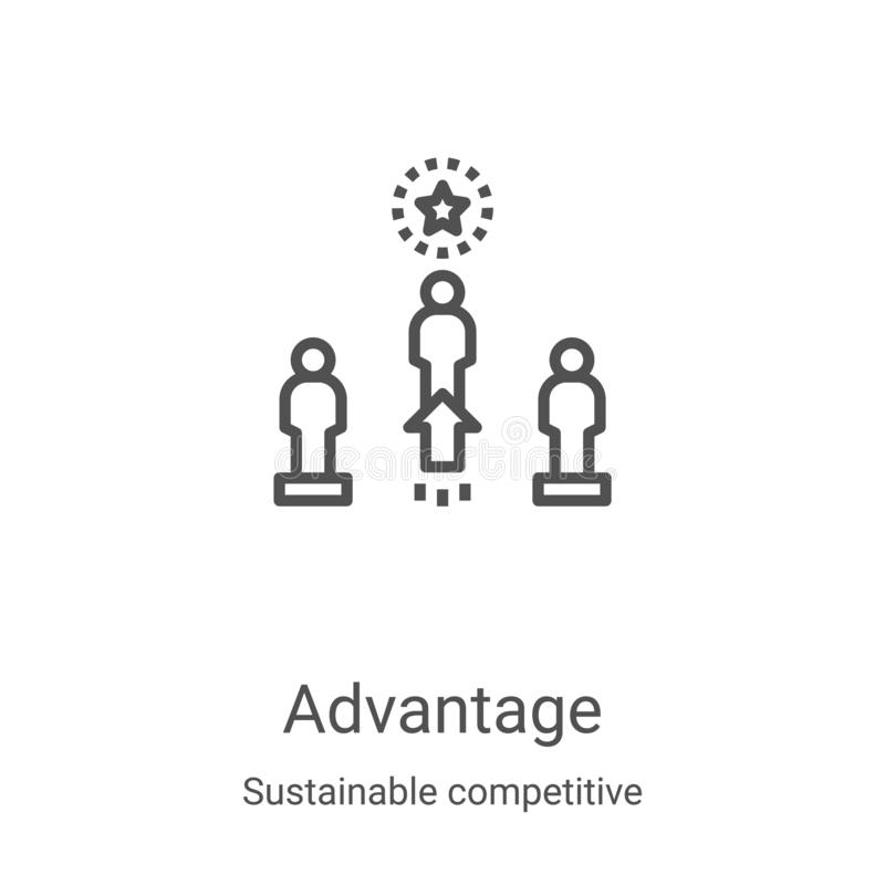 advantage icon vector from sustainable competitive advantage collection thin line advantage outline icon vector illustration stock vector illustration of competitive development 166040444 advantage icon vector from sustainable