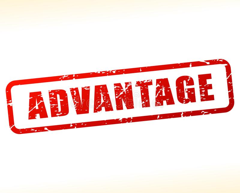 Advantage text buffered. Illustration of advantage text buffered on white background royalty free illustration