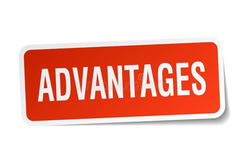 advantages klistermärken stock illustrationer