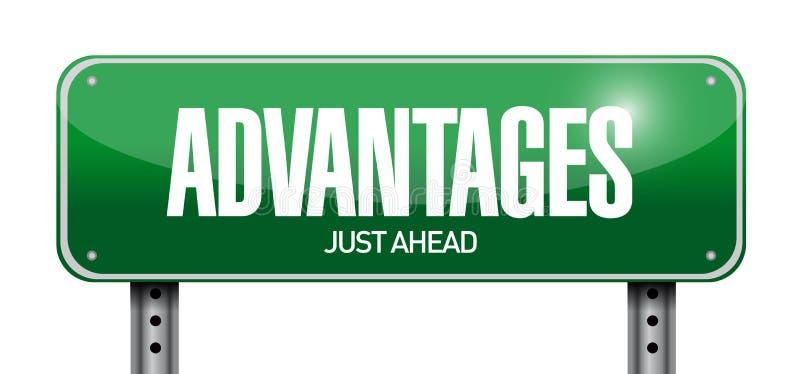 Advantages road sign illustration design. Over a white background stock illustration