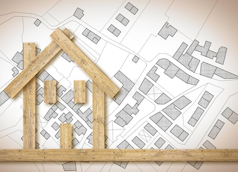 The advantages of wood as a building material in the construction industry - concept image with copy space.  royalty free stock images