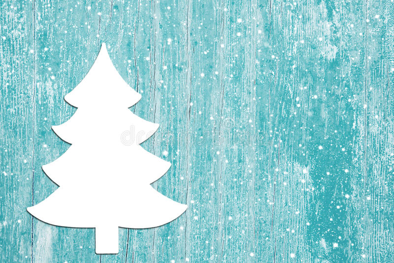 Advent Background Of Old Wood In Turquoise And A Christmas