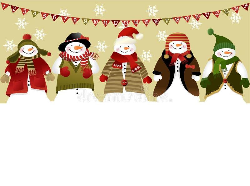 Advent calendar. Christmas background with advent calendar stock illustration