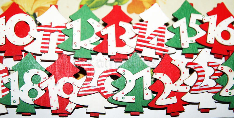 Advent calendar. A advent calendar in christmas time royalty free stock photography