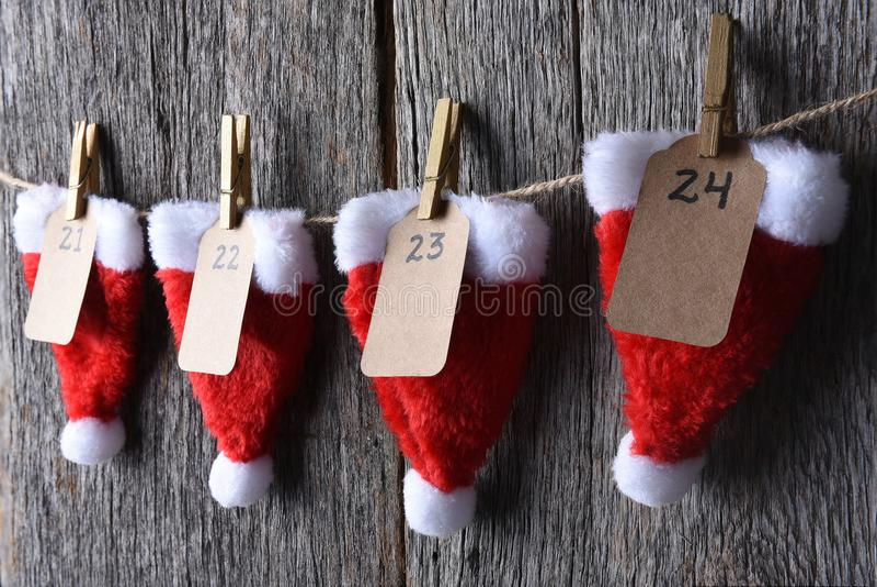 Advent Calendar Closeup arkivfoto