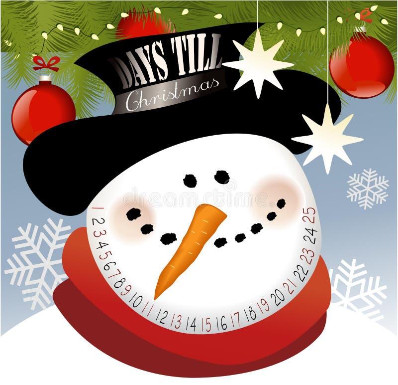 Advent calendar. Funny Advent calendar with snowman vector illustration