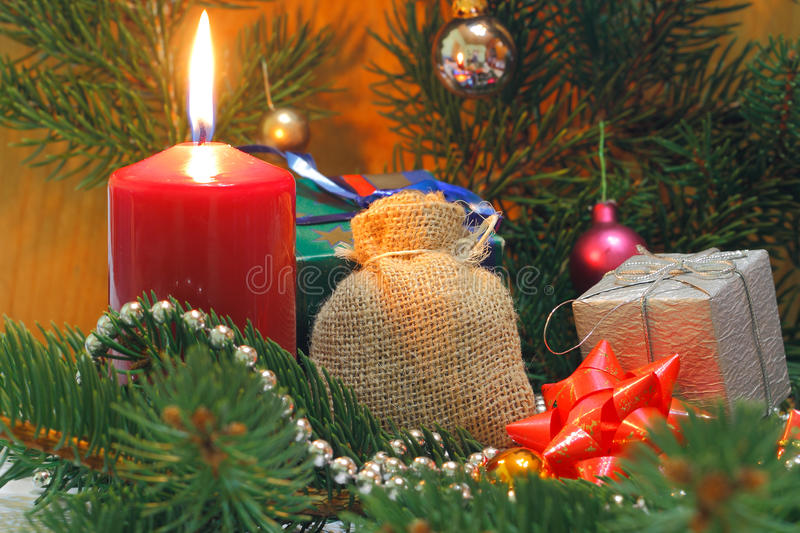 Advent Candle photo stock