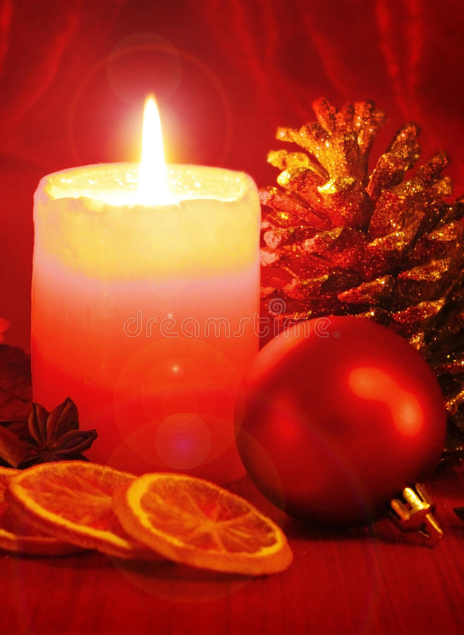 Advent Candle royalty-vrije stock afbeelding