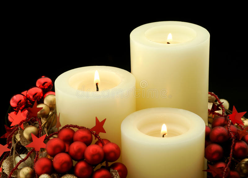 Advent Candles imagem de stock royalty free