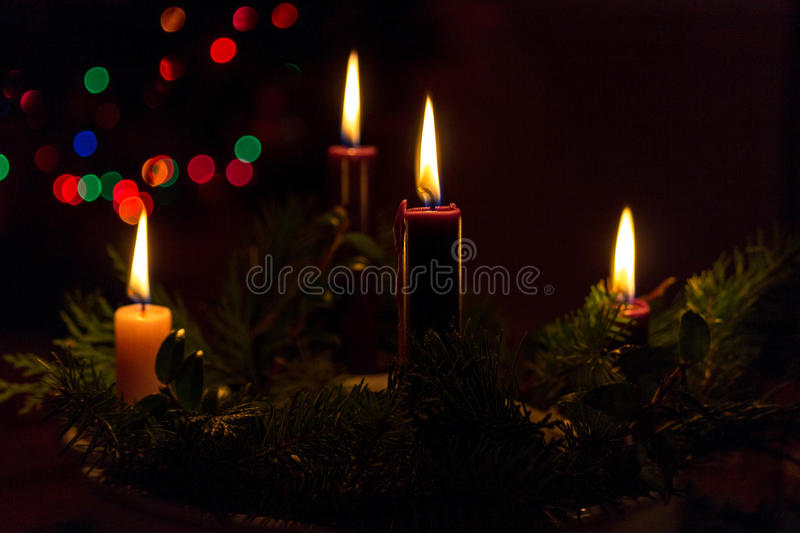 Advent Candles stock afbeelding