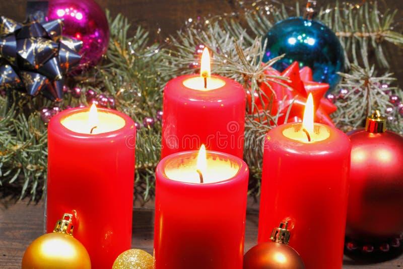 Advent Candles imagenes de archivo