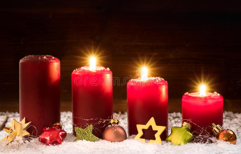 3. Advent. Candles for the third advent royalty free stock photo
