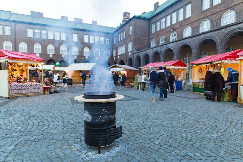 Advent Christmas Market em Szeged Hungria fotografia de stock royalty free