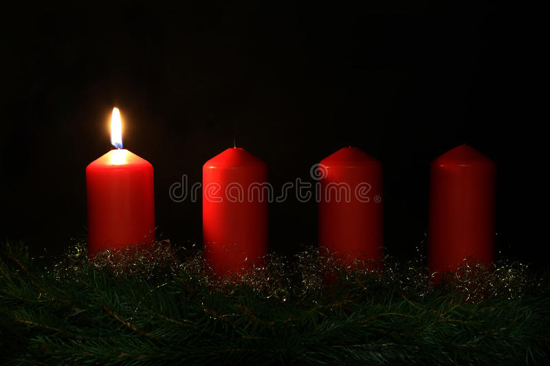 1. Advent. Internationally Holidays / 1. Advent / Advent is a season observed in many Western Christian churches as a time of expectant waiting and preparation royalty free stock photo