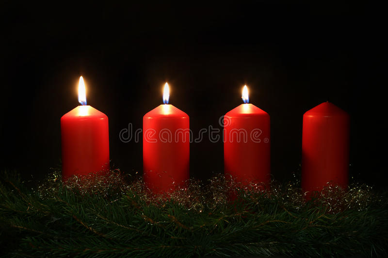 3. Advent. Internationally Holidays / 3. Advent / Advent is a season observed in many Western Christian churches as a time of expectant waiting and preparation royalty free stock images
