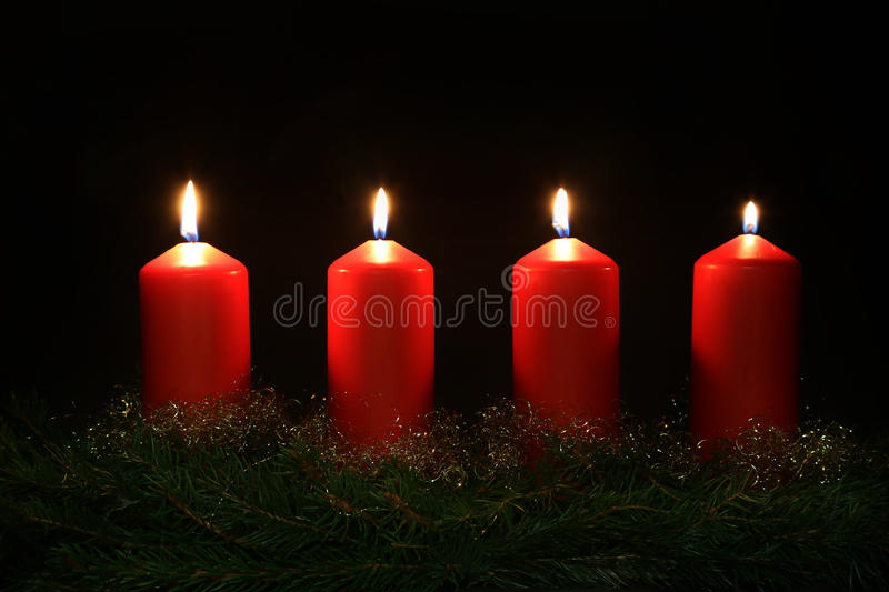 4. Advent. Internationally Holidays / 4. Advent / Advent is a season observed in many Western Christian churches as a time of expectant waiting and preparation stock photo