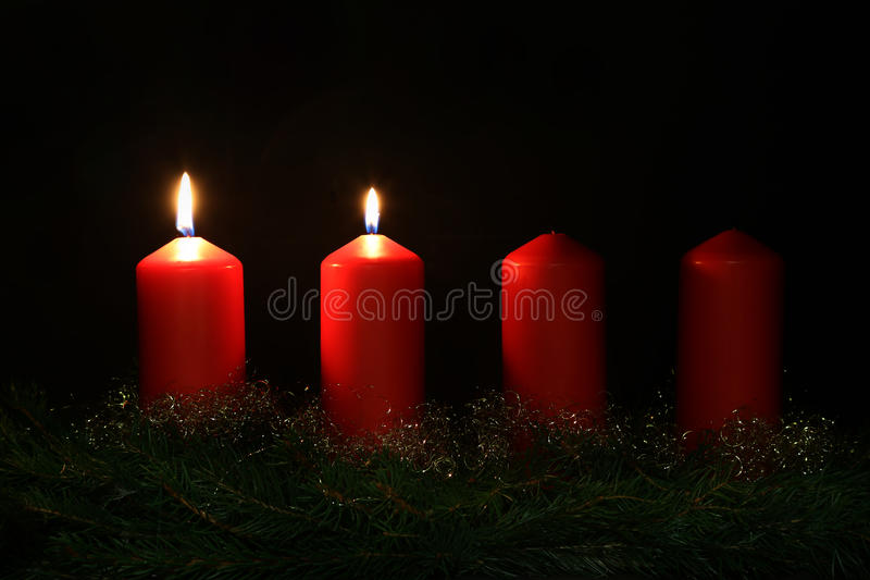 2. Advent. Internationally Holidays / 2. Advent / Advent is a season observed in many Western Christian churches as a time of expectant waiting and preparation stock photography