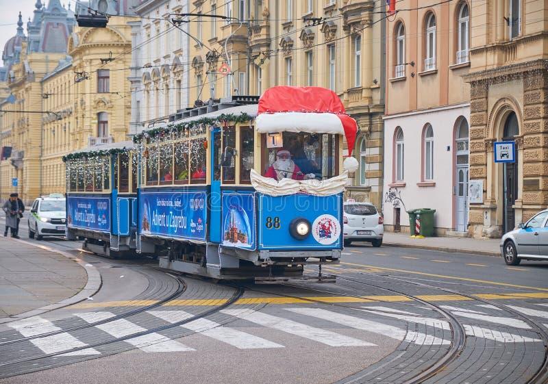 Advent Market nella caratteristica di Zagabria fotografie stock libere da diritti