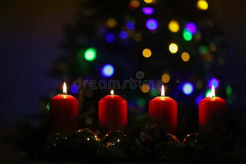 Advent is the time of waiting and preparing for the celebration of the Nativity of Jesus stock photo