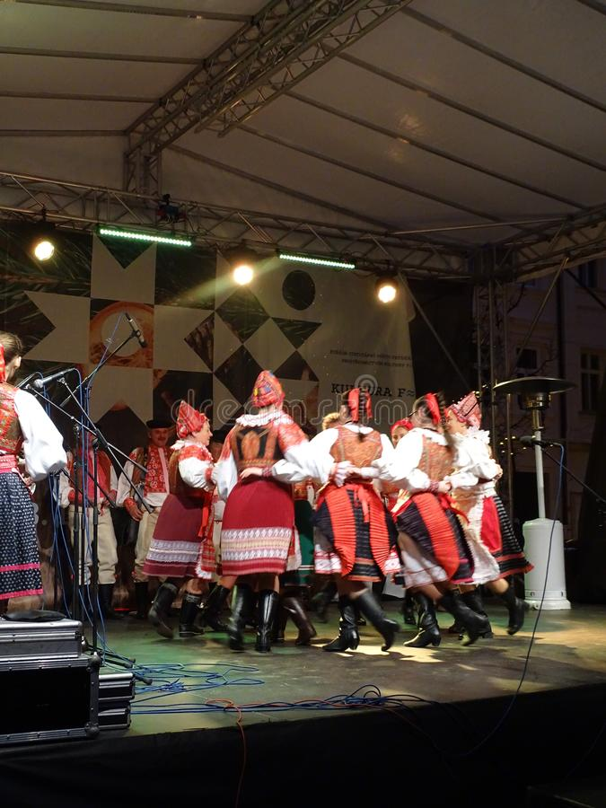 Advent in town 2018. The City of Frydek-Místek prepared through KulturyFM fun in Advent, which offers plenty of activities for children and adults. Will be royalty free stock image