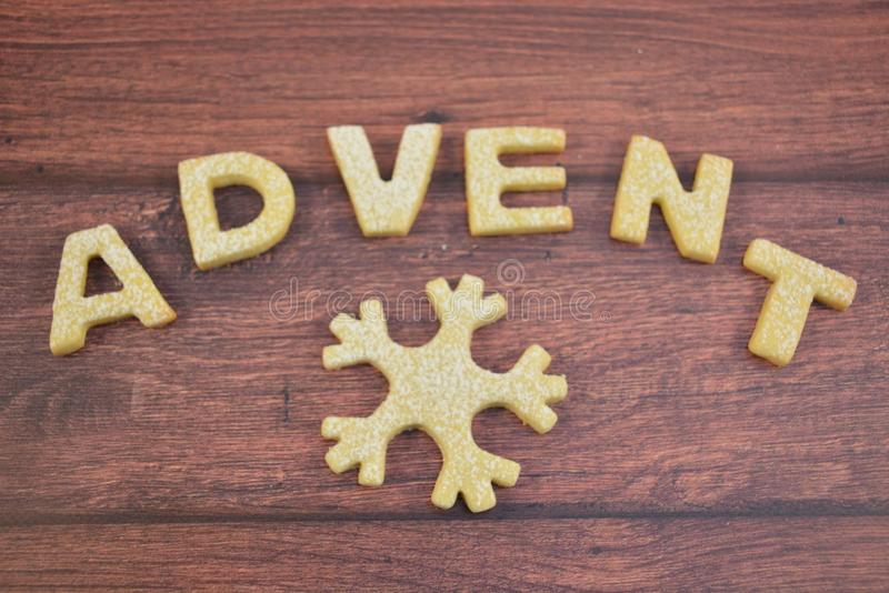 Advent, waiting for Christmas. Cookies, enjoy it royalty free stock images