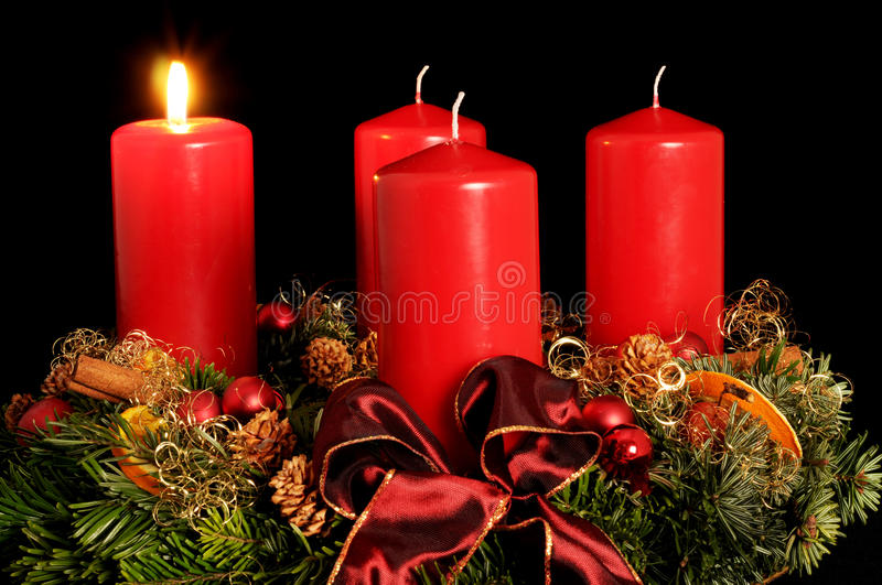 Download Advent wreath stock image. Image of tinsel, advent, material - 10143657