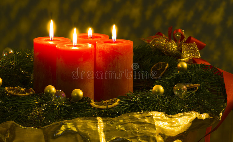 Advent wreath /2 royalty free stock photos