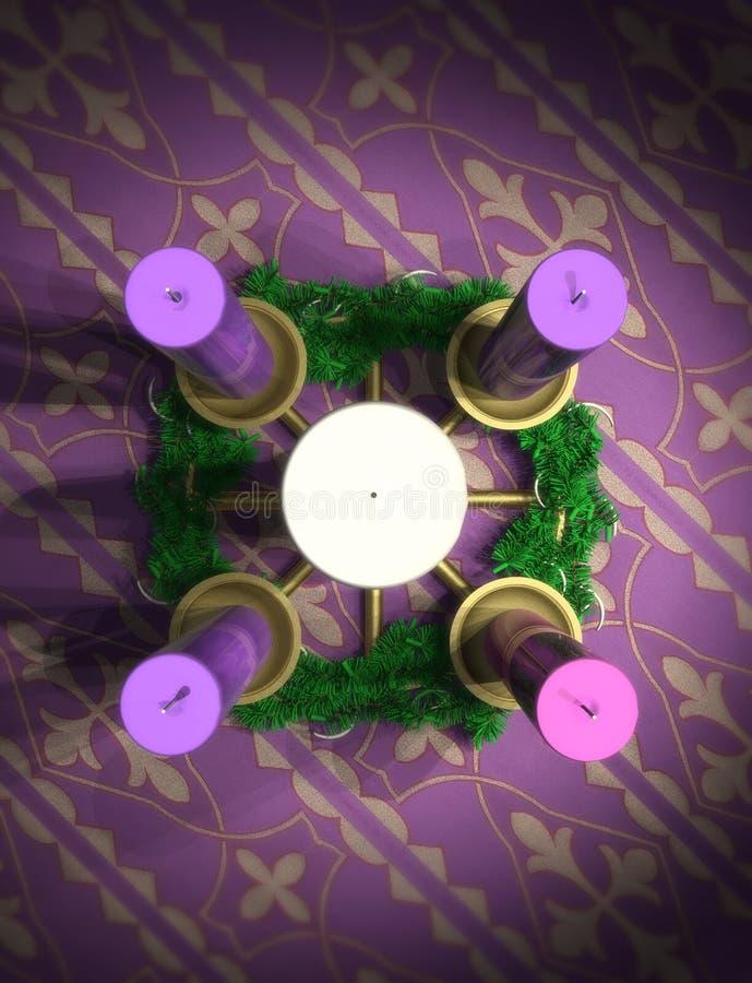 Download Advent Wreath stock illustration. Image of spirituality - 21335977
