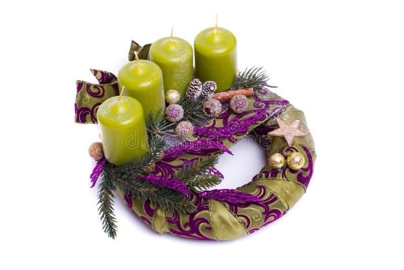 Advent wreath. On white background royalty free stock photos