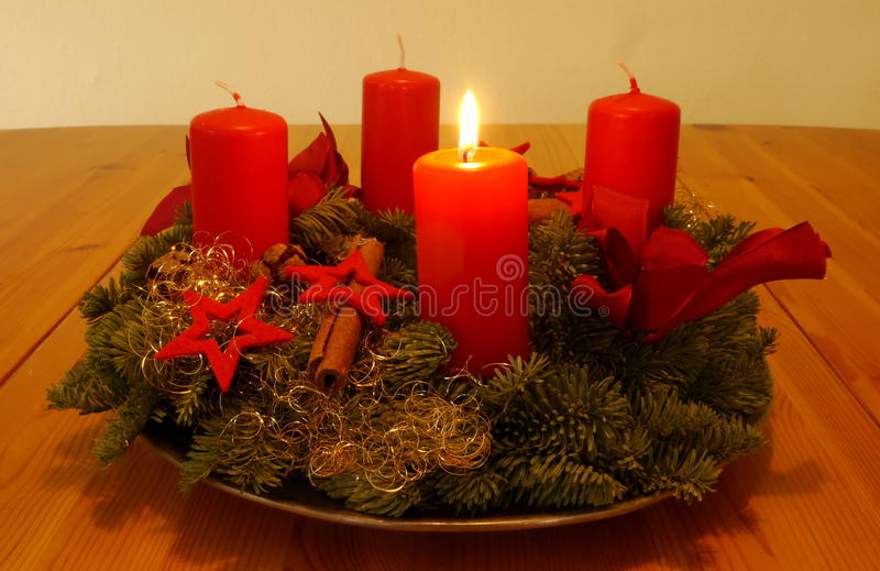 Advent Wreath lizenzfreies stockfoto