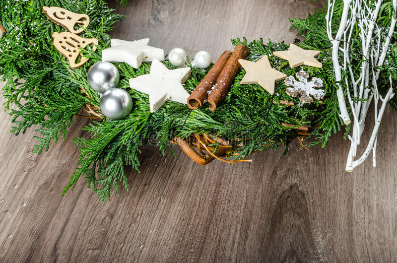 Advent Wreath royaltyfri foto