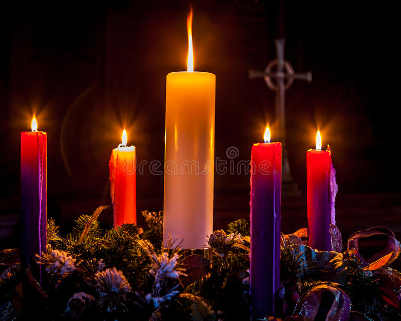 Advent Wreath royaltyfri fotografi