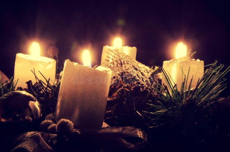 Advent Wreath arkivfoton