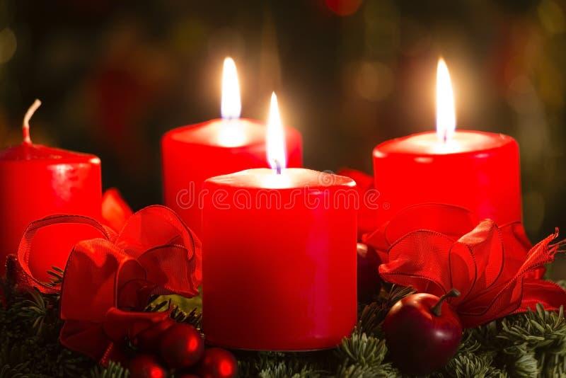Advent wreath. For 3. advent stock photo