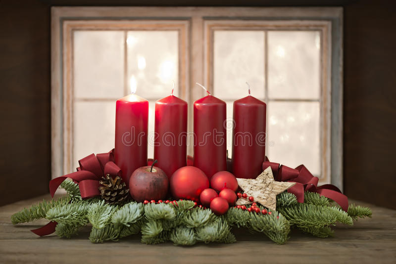 Advent Wreath stock fotografie