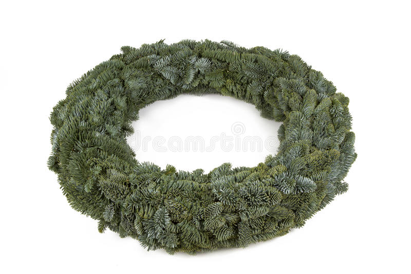 Advent wreath without candles and decoration. On white background royalty free stock image