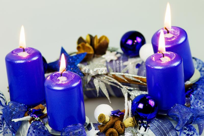 Advent wreath. The detail photo of Advent wreath stock images