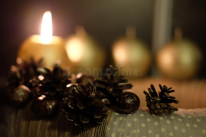 Advent wreath. Advent wreath is handmade from natural materials stock photo