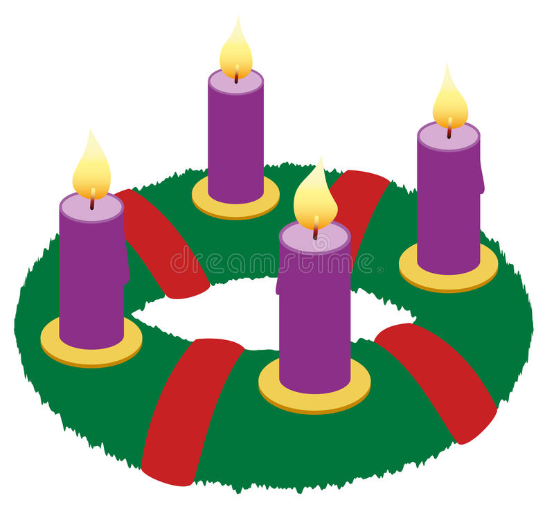 advent wreath illustration icon symbol stock vector illustration rh dreamstime com advent wreath clip art free christmas advent wreath clip art