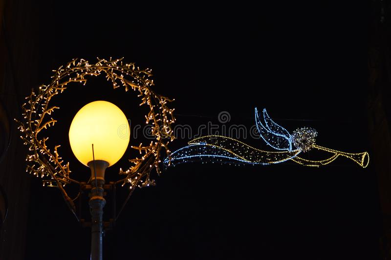 Advent in Zagreb, Croatia, Street decoration at Christmas time stock photography