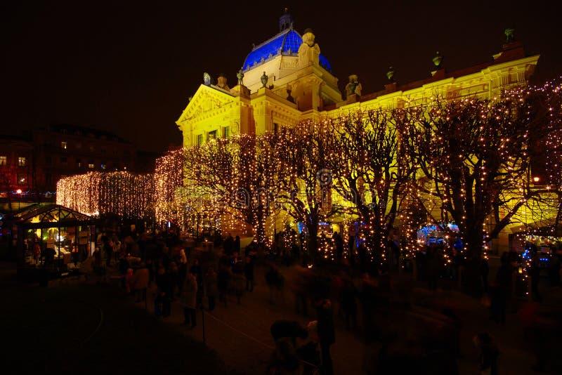 Advent In Zagreb, Kroatië royalty-vrije stock afbeeldingen