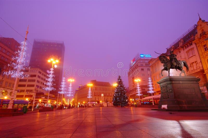 Advent In Zagreb, Kroatië stock foto's