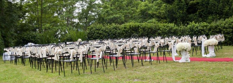 Adventist outdoor wedding. Adventist wedding in the castle of Tercesi stock image