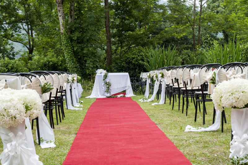 Adventist outdoor wedding. Adventist wedding in the castle of Tercesi royalty free stock images