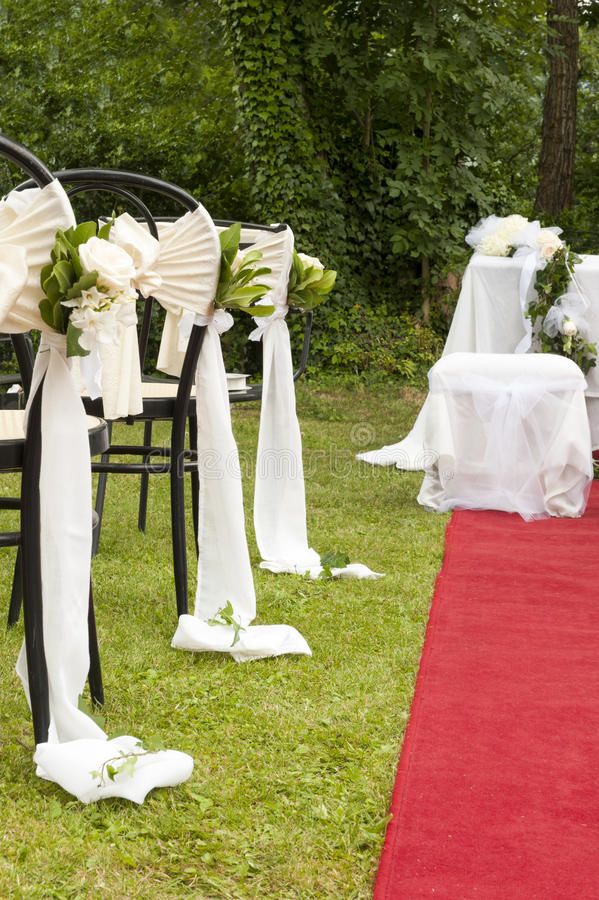 Adventist outdoor wedding. Adventist wedding in the castle of Tercesi stock photography