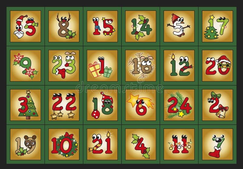 Adventkalender stock illustrationer